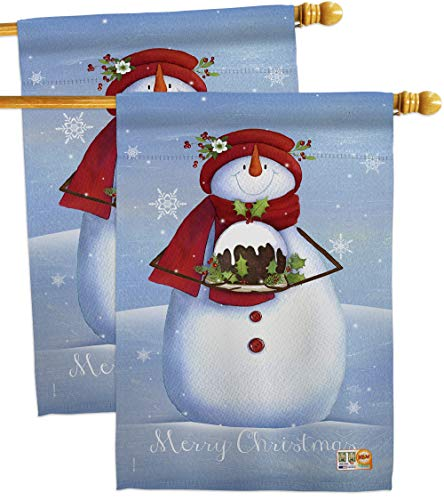 (Breeze Decor HP114188-P3AE Warm Wish Snowman Winter Christmas Impressions Decorative Vertical 28