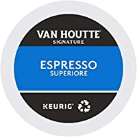 Van Houtte Espresso Superiore Recyclable K-Cup Coffee Pods, 10 Count For Keurig Coffee Makers