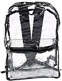 Women Transparent PVC Backpacks See Through Beach Bag Female Girl Clear Bagpack School Bag