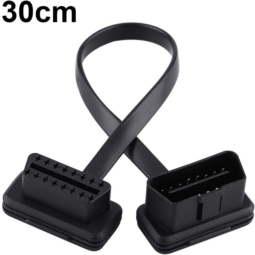 BiuZi OBD2 Cable 30cm//12inch Car Auto 16 Pin Male to Female OBD2 Replacement Connection Extension Cable Diagnostic Adapter