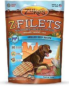 Zuke's Z-Filets Dog Treats, Savory Beef Recipe, 7.5-Ounces