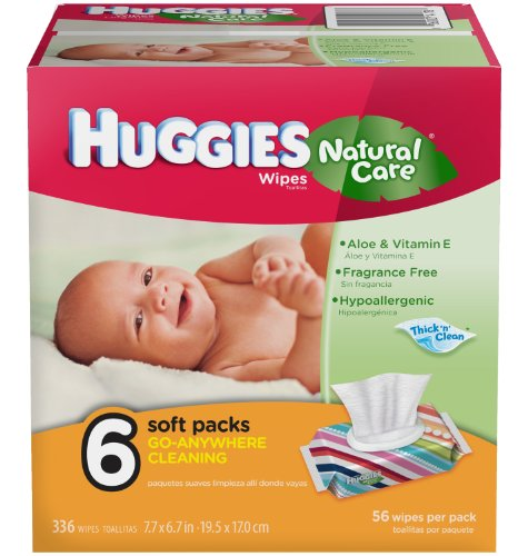 Huggies Natural Care Baby Wipes 6 Packs Of 56 Wipes 336