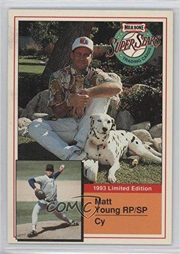 Matt Young (Baseball Card) 1993 Milk-Bone Super Stars - Dog Food Issue [Base] #9