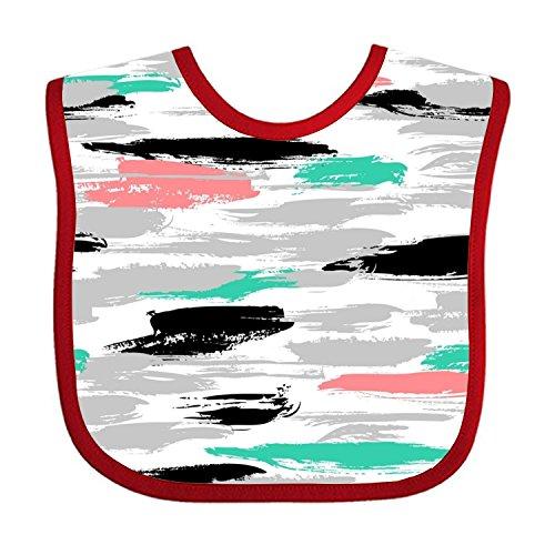 Brushstroke Stripe - Brushstrokes And Stripes Teething Bib Waterproof Sleeved Bibs For Babies Toddlers