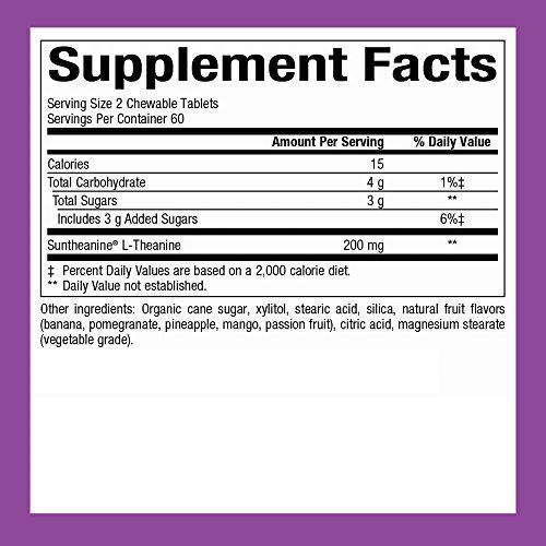 Natural Factors - Stress-Relax Suntheanine L-Theanine, 100mg, 120 Chewable Tablets by Natural Factors (Image #2)