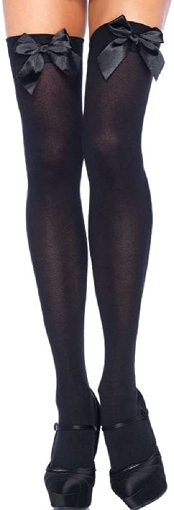 Leg Avenue plus size women halterless stockings black with black loops one size approx. 42 to 44 Leg50922489803