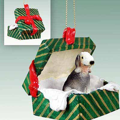 Conversation Concepts Bedlington Terrier Gift Box Green Ornament ()