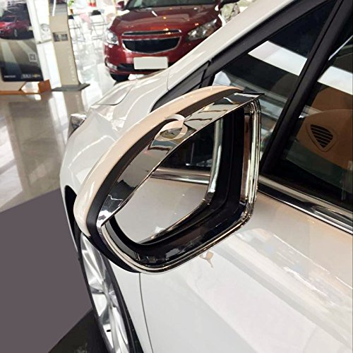 HIGH Flying Rear View Side Door Mirror Sun Rain Guard Cover Frame Trim ABS Chrome 2pcs for Chevy Chevrolet Cruze 2017 2018