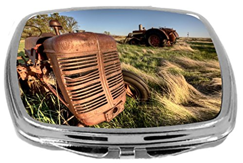 Rikki Knight  Close-Up Design Compact Mirror, Antique Farm Tractor, 3 Ounce by Rikki Knight