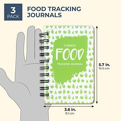 Paper Junkie 3 Pack 90 Day Meal Tracker Pocket Food Journal for Diet, Calorie Counting, Weight Loss, 5 x 3.5 Inches 3
