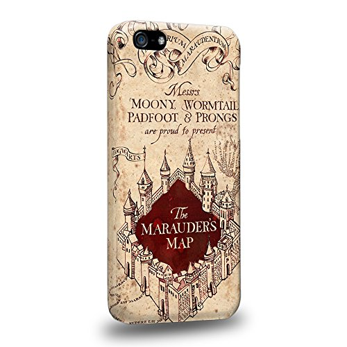 Case88 Premium Designs Harry Potter & Hogwarts Collections Marauder's Map Protective Snap-on Hard Back Case Cover for Apple iPhone 5c