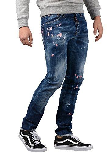 DSQUARED DSQUARED2 Jeans - Uomo s71lb0322 DECORATO COOL GUY JEANS IN BLU   Amazon.it  Abbigliamento e5a8f11a90b7