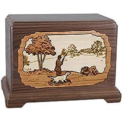 Wood Cremation Urn - Walnut Hunting Hampton