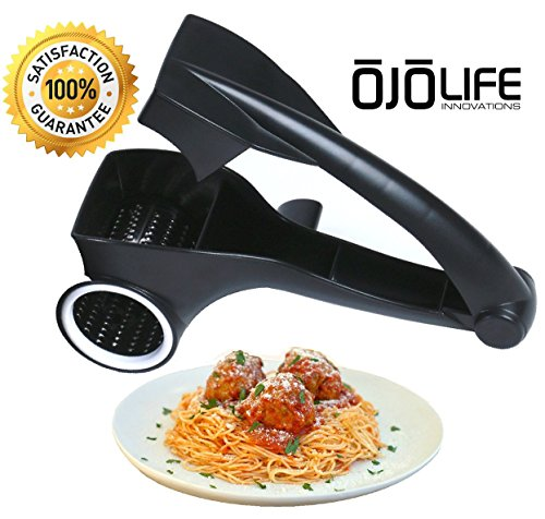 oJoLife Innovations Stainless Steel Blade Multi-Use Rotary Cheese Grater with E-CookBook (Cheese Crank compare prices)