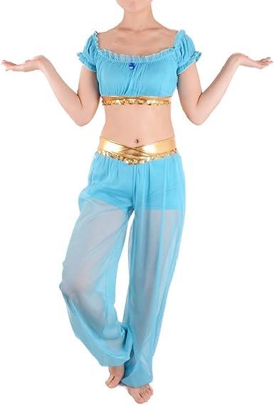 Princess Jasmine disfraz adulto cosplay Halloween vestido de Danza ...