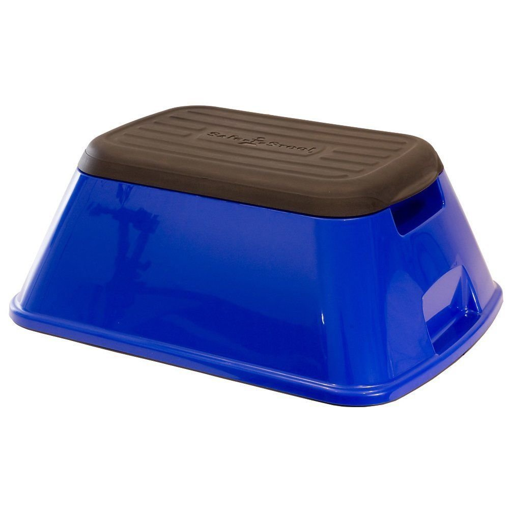 Professional house Safe-T-Stool - Anti-tip Step Stool with 500 lb Capacity (Glossy Blue)