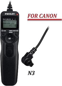 Mando a distancia por radio para Canon 1d 5d 7d 50d 40d 30d 20d 10d d2000 d60 d30 rs-80n3