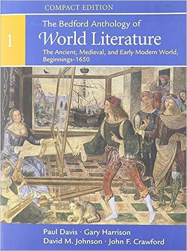 Compact Bedford Anthology of World Literature V1 & V2