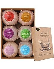 Venus Visage Bath Bombs Gift Set, 6 Organic & Natural Bath Bombs, Handmade Bubble Bath Bomb Gift Set, Lush Fizzy Spa Moisturizes Dry Skin, Bubble Baths, Kit Ideas for Girlfriends, Women, Moms
