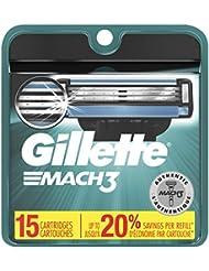 Gillette Mach3 Men's Razor Blades – 15 Refills, Basic