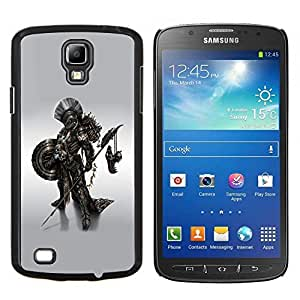 LECELL--Funda protectora / Cubierta / Piel For Samsung Galaxy S4 Active i9295 -- Metal Robot Warrior --