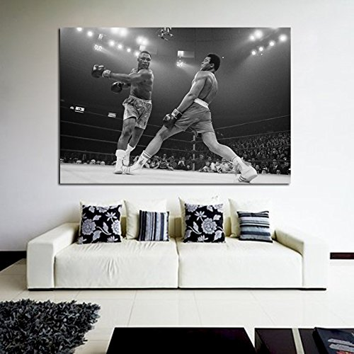 #34 Poster Mural Muhammad Ali vs Joe Frazier Boxer Figher Boxing Champ 40x58 in (100x147 cm) 8mil Paper - Joe Frazier Boxer