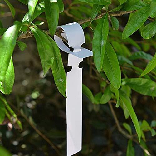 (200 Pcs Weatherproof Wrap Around Tags, 2x21cm White Plastic Plant Tree Tags Nursery Garden Plant Lables)