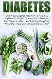 Diabetes: One Week Diabetes Meal Plan To Help You