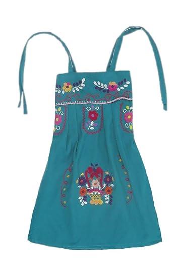 Buy Mexican Clothing Co Baby Girls Mexican Dress Modern Sundress Tehuacan Poplin NB Aqua Dark 10751 at Amazon.in