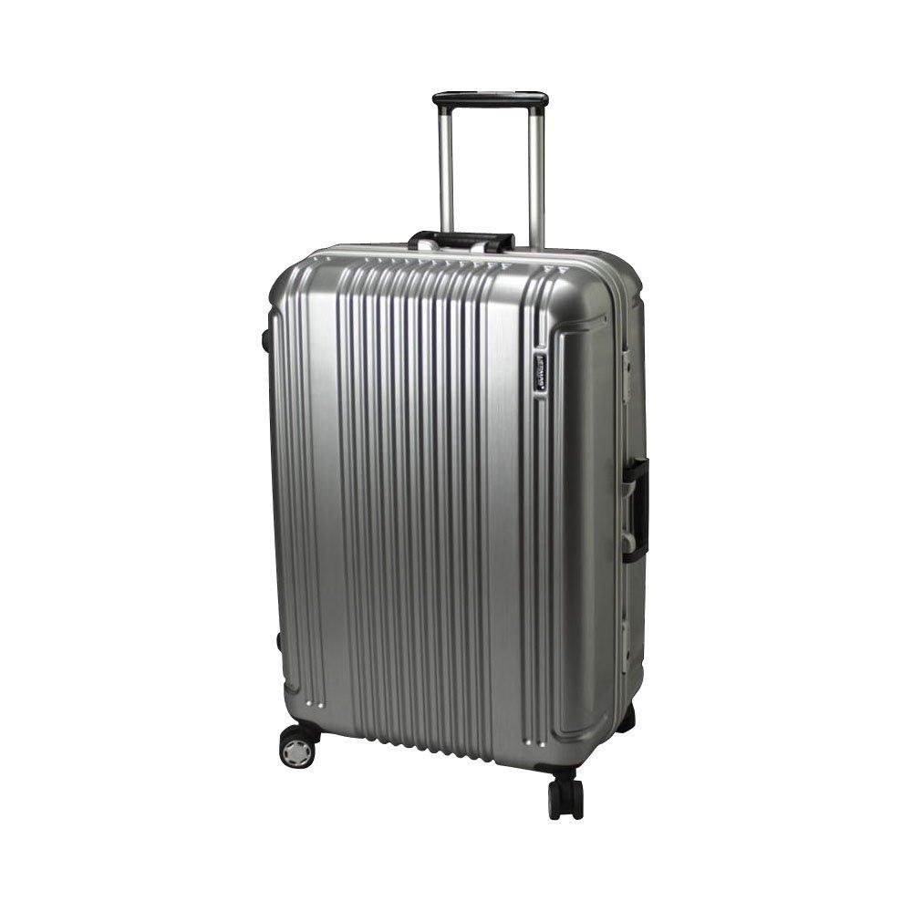 BERMAS PRESTIGE II バーマス プレステージ2 スーツケース ハードキャリー フレームタイプ 4輪 58cm 52L シルバー 60265-SV   B00U8L0S26