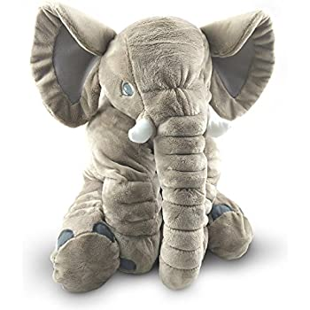 giant stuffed elephant toy cute soft plush cuddly fabric great gift idea for. Black Bedroom Furniture Sets. Home Design Ideas