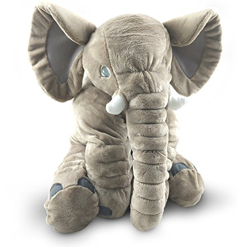 Giant Stuffed Elephant Toy – Cute Soft Plush Cuddly Fabric – Great Gift Idea for Kids & Adults