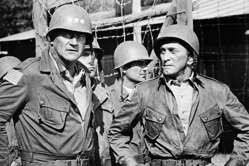 John Wayne and Kirk Douglas Cast A Giant Shadow 11x17 Mini Poster