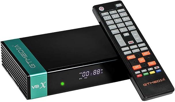 GTMEDIA V8X DVB-S/S2/S2X Decodificador Satelite Digital Full HD con Wi-Fi Incorporado / Ethernet / SCART ,Soporte CC CAM, Youtube, IPTV,Ranura para ...