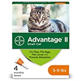 Bayer Advantage II Flea Treatment for Small Cats, 5-9 lb, 4 doses