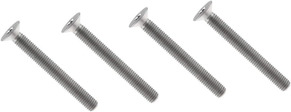 Yaruijia Titanium Bolt M8x15 20 25 30 35 40 45 50 60 65 70 80 90mm Countersunk Head Socket Hexagon Screws Pack of 4 M8x50mm, Titanium