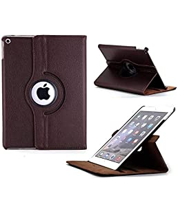 Caseous Synthetic Leather Rotate Flip Cover for Apple iPad Mini 1 2 3 (Brown)