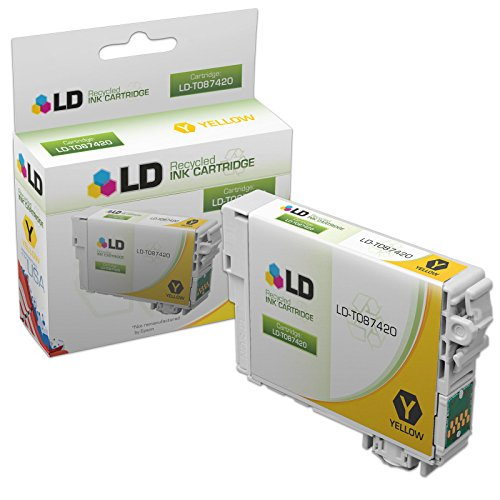 LD Products Remanufactured Ink Cartridge Replacement for Epson T087 ( Yellow (T087420 Yellow Ink)
