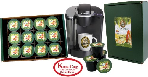 K-cup Coffee of the Month Club, Pure Kona and Kona Hawaiian K-cups Shipped Monthly for Six Months, Gift for Christmas, Mothers Day, Fathers Day, Birthdays, Corporate Gifts and All Occasions by Aloha Island Coffee (Image #1)