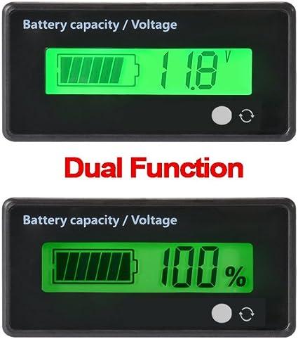 8-63V LCD Acid Lead Lithium Battery Capacity Indicator Digital Voltmeter