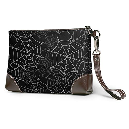 Spider Web Leather Wristlet...