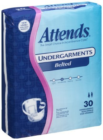 ATTENDS Undergarment Attends Belted Disposable Moderate Absorbency (#BU0600, Sold Per Pack) Absorbency Belted Undergarment