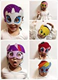 Keklle Girls Birthday Party Favors Felt Masks Novelty Toys Girls Birthday Gifts for My Little Pony Party Supplies (6 PCs)