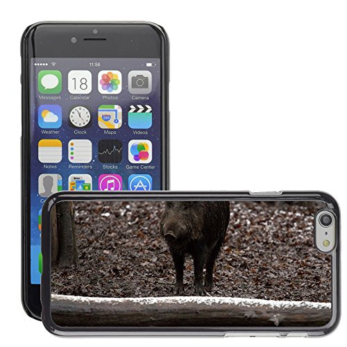 """Bild Hart Handy Schwarz Schutz Case Cover Schale Etui // M00133676 Boar Tiere Wild Forest // Apple iPhone 6 PLUS 5.5"""""""