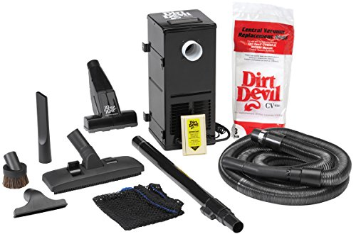 HP Products 9614 Black All-in-One Central Vacuum System