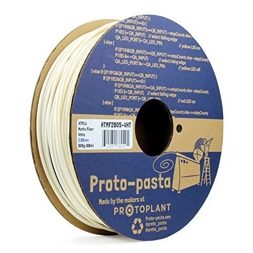 Wht Matte - Proto-Pasta HTMF2805-WHT Matte Fiber White HTPLA, 2.85mm 500g