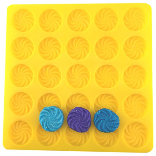 Swirl Candy Cream Cheese Mint Mold Yellow Flexible by ()