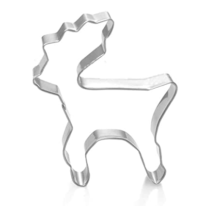 Molde para galletas de reno DreamFlying Mini Elk - acero inoxidable