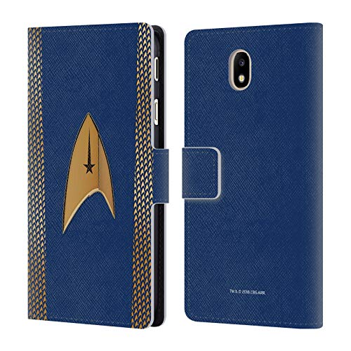 Official Star Trek Discovery Command Uniforms Leather Book Wallet Case Cover for Samsung Galaxy J7 2017 / Pro ()