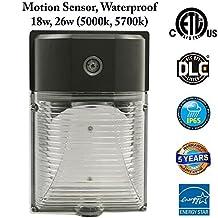 Motion Sensor Outdoor Lighting: Outdoor Sensor, Garage Sensor, Sensor Garden, Lights Stairs, Motion Sensor, Door Entrance Lights, Outdoor Lighting, 26w 5000k Daylight, ETL Certified, 5 Years Warranty